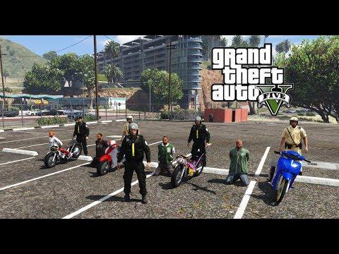 GTA  Mod - Đội Cảnh Sát Cơ Động Đi Càn Quét Đoàn Đi Bão Trong Thành Phố Los santos