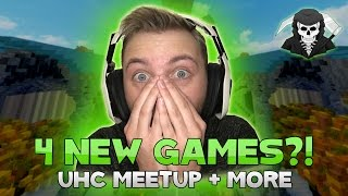THE FOUR BRAND NEW HYPIXEL MINI-GAMES! (Bed Wars, Arena 1v1, UHC Meetup, Mega SG )