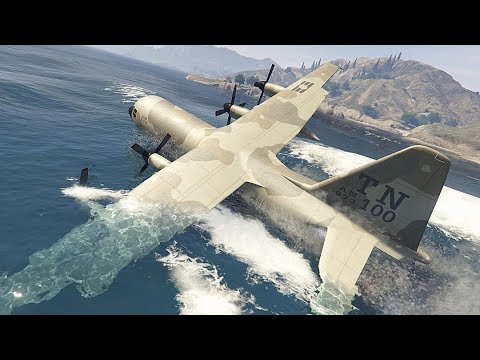 GTA 5 INSANE AIRPLANE WATER LANDINGS COMPILATION!!!