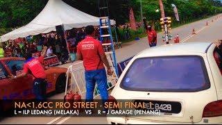 KULIM - KBS MALAYSIAN DRAG RACE 2014 - NA1.6CC PRO STREET 201M Video