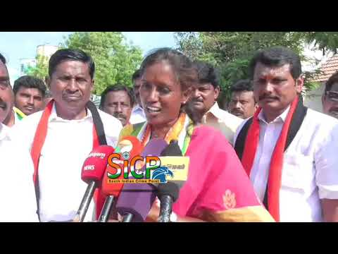 Congress candidate  S Jothimani Vote canvassing Karur LS constituency with V. Senthil Balaji   sicp