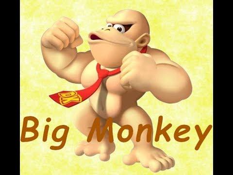 Deranged man says big monkey for 3 minutes while making monkey noises.