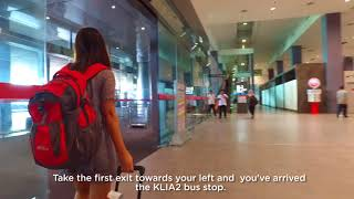 Video Getting to AirAsia RedQ on foot (klia2 train station) MP3, 3GP, MP4, WEBM, AVI, FLV Juni 2018