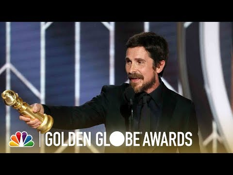 Christian Bale Wins Best Actor, Musical or Comedy - 2019 Golden Globes (Highlight)