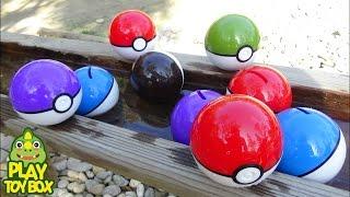 Video Pokemon GO Capsule WaterSlide Play Learn Colors Toy Capsule Monster Race Surprise Eggs MP3, 3GP, MP4, WEBM, AVI, FLV Mei 2017