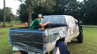 "TAKING A PAINT GUN TO MY BROTHERS TRUCK WITH A BRAND NEW PAINT JOB... DOES HE TRUST ME?MY BEDLINER INSTALL - https://youtu.be/DZVfUVm3wdYLive The 'Duck It"" Lifestyle!https://www.duckduckdiesel.comSEND US STUFF! - PO BOX 1240, Fort Walton Beach, FL 32549 Time For an oil change? Hit my guy up for dealer prices on Amsoil products!Jason - 440-731-6607FIRST UPGRADE IN THE NEW GARGE! - https://youtu.be/9IHI_huADEwNEW HOUSE AND NEW CAR! - https://youtu.be/vdIkq4IvK0MTHE ONLY BAD THING ABOUT OWNING AN OLD TRUCK - https://youtu.be/Y5FWpAleZB0YouTube Instagram - @ParodoxzPersonal Instagram - @Chuck24v          Thank You For Watching! - ParoDoXz"