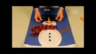 For more paper plate crafts and a free printable document with patterns, go to http://animaplates.com/v/snowman2 Work on shapes and dimensions with this Snow...