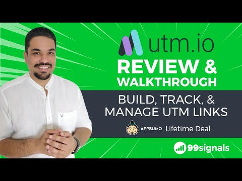 Watch ' UTM.io Review & Walkthrough - Build, Track, & Manage UTM Links (+AppSumo Lifetime Deal)'
