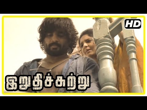 Irudhi Suttru Tamil Movie | Scenes | Ritika proposes Madhavan | Mumtaz hurts Ritika | Sudha Kongara