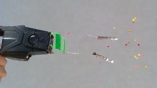 L'effet d'un taser sur un cobaye, filmé au ralenti