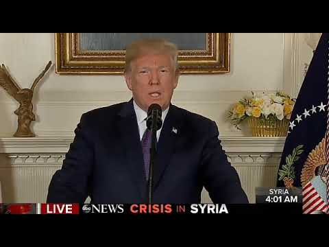 4-13-18 POTUS Trump Announces Strikes Are Being Carried Out In SYRIA.. War Started...