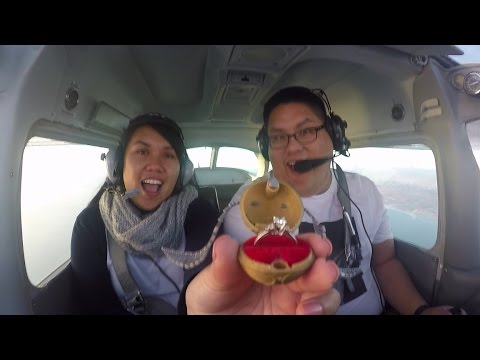pilot fakes mid air emergency to propose