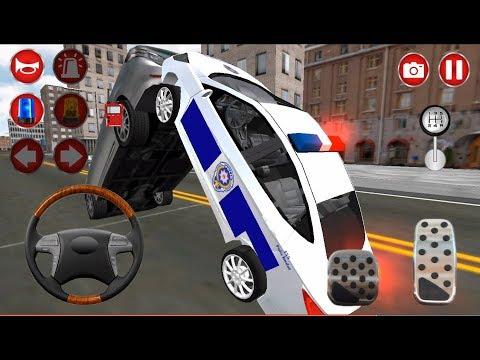Türk Polis Oyunu 3D #4- Çocuklar için araba oyunu, direksiyonlu polis arabası çizgi film - Minimix