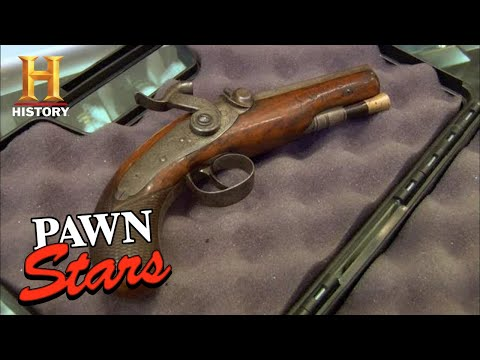 Rick TAKES HIS SHOT on a RARE Percussion Pistol | Pawn Stars (Season 7) | History