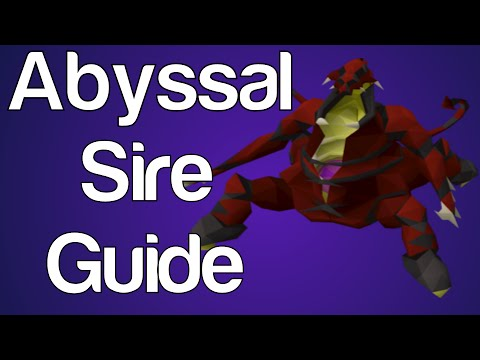 osrs abyssal sire guide for zerker with safespots bossing made easy