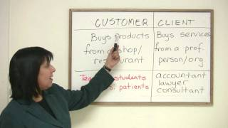 Customer or Client, Business English Vocabulary