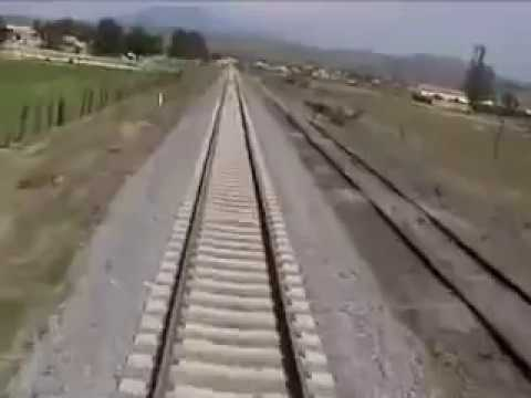Train hits car - Cab view