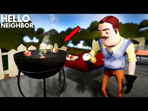 HAVING A BARBECUE WITH THE NEIGHBOR!!! | Hello Neighbor (Mods) (видео)