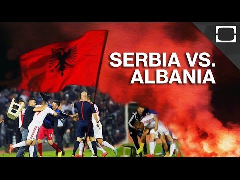 why - Earlier this month, a mass fight broke out during a football match between Serbia and Albania after a drone carrying Albania's flag flew onto the field. The violence amongst players and fans...