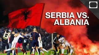Earlier this month, a mass fight broke out during a football match between Serbia and Albania after a drone carrying Albania's flag flew onto the field. The ...