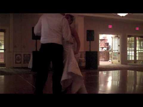 Bride falls on dance floor
