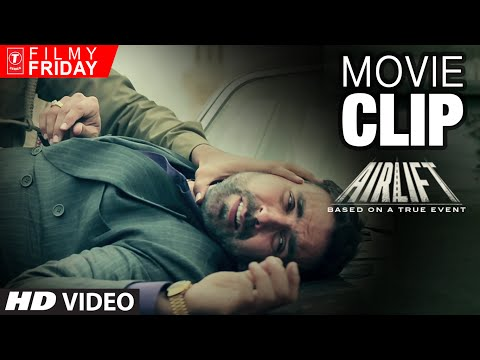 AIRLIFT MOVIE CLIPS 3 -  Iraqi Army Shots Akshay Kumar's Indian Driver