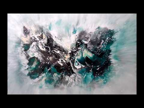 Abstraktes Malen   ganz einfach    Abstract Art Painting   speed and easy