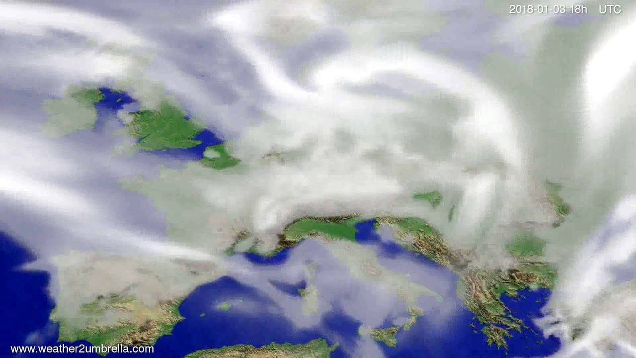 Cloud forecast Europe 2017-12-31