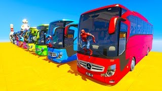 Video LEARN COLOR giant BUS jump cartoon for kids and babies 3D animation MP3, 3GP, MP4, WEBM, AVI, FLV Juli 2017