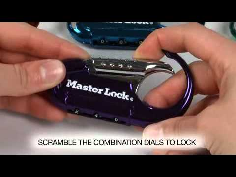 Screen capture of Operating the Master Lock 1548DCM Backpack Combination Lock