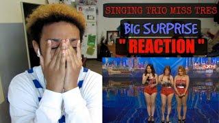 Video YOU WONT BELIEVE THIS !! | SINGING TRIO MISS TRES HAS BIG SURPRISE | ASIA'S GOT TALENT | REACTION MP3, 3GP, MP4, WEBM, AVI, FLV Mei 2018