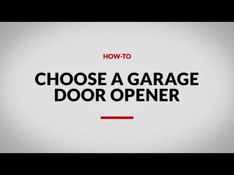 How To Choose A Garage Door Opener 4 Steps Canadian Tire Video