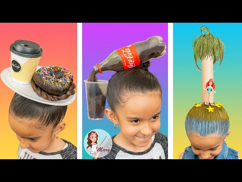 3 Peinados Locos Y Divertidos | Crazy Hair Day