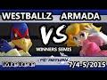 [A] Armada (Peach) Vs. Tempo | Westballz (Falco) SSBM Winners Semis