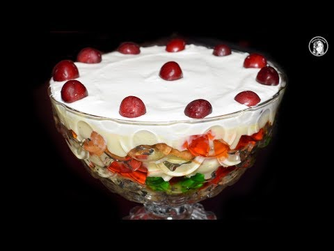 Fruit Trifle Recipe - How To Make Custard Trifle - Easy Dessert Recipe