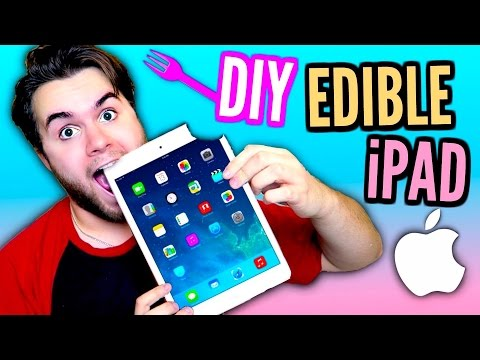 DIY Edible iPad! | EAT Apple Products! | How To Make Chocolate Mac Tablet! (видео)