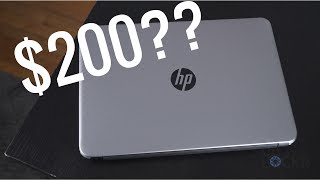 Windows laptops have gotten pretty inexpensive over the years. And more importantly, they're cheap but decent. No longer do you need to choose between a cheap crappy Windows computer or a high-end gaming machine.One such laptop is being hailed around the web as the best laptop for under $200 and it's called the HP 14-an013nr... yeah, not the best name, but, regardless, here's why if you only have $200 to spend on a new laptop, why you should probably get this one.The HP 14-an013nr (sigh) is the top contender for a number of reasons.Allied Content: This Video was Sponsored by HP (but it is something I thought was interesting to talk about or I wouldn't have done the video :) Hope you enjoy it!)LINKS FROM THE VIDEO:HP 14-inch Laptop, AMD E2-7110, 4GB RAM, 32GB eMMC, Windows 10 (14-an013nr, Silver): http://amzn.to/2tt4MdaHP 2.4GHz Wireless USB Mouse Z3700 (Turbo Silver): http://amzn.to/2sTpYfsHP 15.6 in Black Odyssey Backpack: http://amzn.to/2ttwruSHP Laptop and Mouse Bundle: http://amzn.to/2tObj1oCheck out the rest of the channel: https://youtube.com/c/theunlockrSubscribe! - http://www.youtube.com/user/mobileunlimited?sub_confirmation=1Connect with me on our social networks to chat, get behind the scenes photos, and shots of tech I'm excited about:Facebook - https://www.facebook.com/TheUnlockrTwitter - https://twitter.com/TheUnlockrGoogle+ - https://plus.google.com/+TheUnlockr1Instagram - http://instagram.com/theunlockr/Head here for the latest jailbreaking tutorials and jailbreak tweaks! - http://bit.ly/1PK208cSet your phone free! You can buy unlock codes to allow you to use any carrier with your phone, head here! - http://bit.ly/1JtHbNnCheck out the site for more videos, tips, tricks, and more!https://TheUnlockr.comCheck out our YouTube Channel! http://www.YouTube.com/c/TheUnlockr