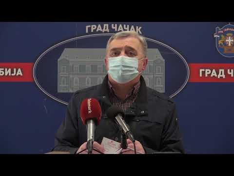 Извештај Радног тима за праћење ширења корона вируса на територији града Чачка за 26. Фебруар 2021.
