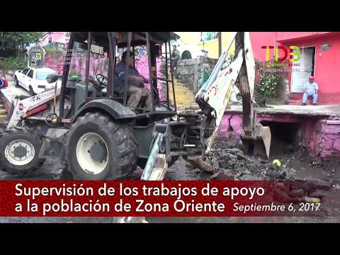 Supervisión de los trabajos de apoyo a la población de Zona Oriente, 09/06/2017