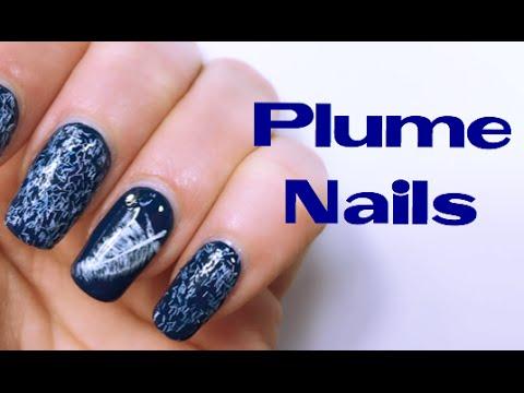 nail art - come realizzare una piuma!