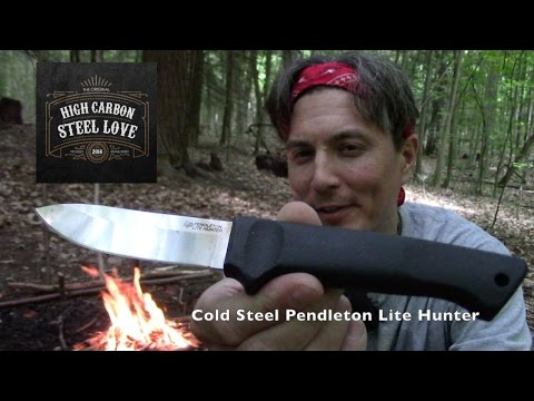 Spending the Day Bushcrafting with the Cold Steel Pendleton Lite Hunter - HighCarbonSteel Love