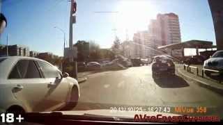 Аварии на видеорегистратор 2014 (11) / Сar Crash Compilation 2014 (11)