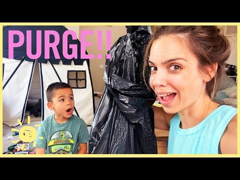 DAY IN LIFE   ULTIMATE PURGE!! (and Tess' new glasses =)