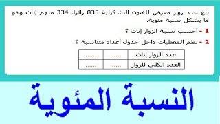 الرياضيات الأولى إعدادي - النسبة المئوية تمرين 9