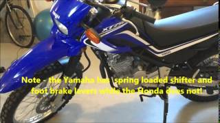 1. Yamaha XT250 vs Honda CRF250L Review