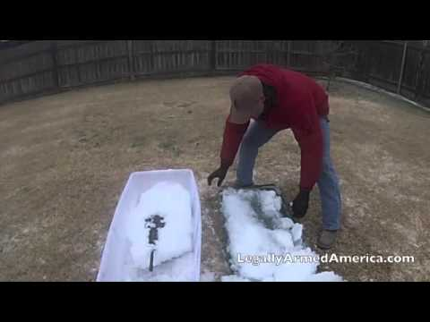 GUN BULLIES: Ice Ice Baby Pt. 2 (AR submerged in ice)