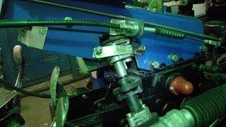 Минитрактор из мотоблока. Изменение вращения рулевой рейки