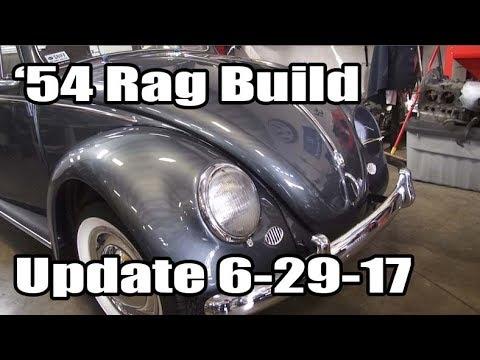 Classic VW BuGs 1954 Beetle Ragtop Sunroof Resto Build Update 6-29-17