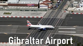 Gibraltar Airport is listed as one of the most dangerous Airports in the World. Not at least because of it's only 1777m long runway, ...