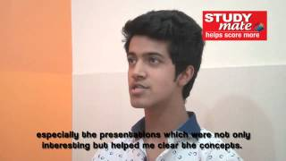 Student Speak – Sanchit Tondon